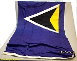 St. LUCIA- 5x9ft Flag Cotton Vintage